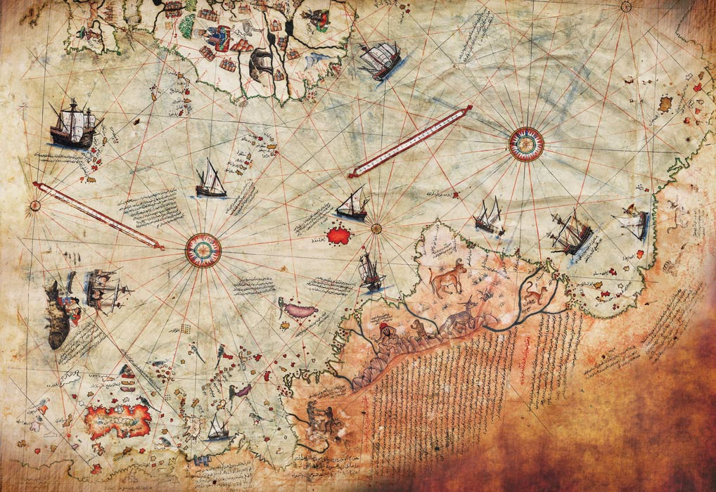Mapa Piri Reise